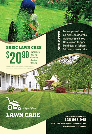 Lawn Mower Flyers Templates Luxury Lawn Care – Free Flyer Psd Template – by Elegantflyer