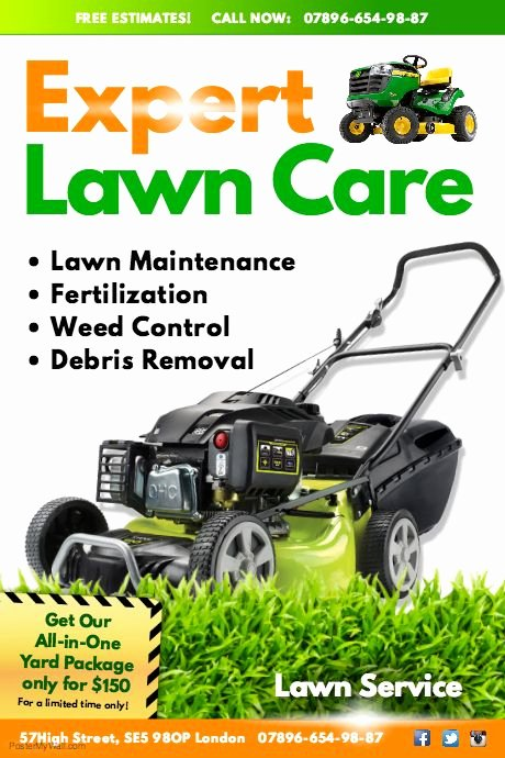 Lawn Mower Flyers Templates Unique Create Amazing Lawn Care Flyers by Customizing Our Easy to