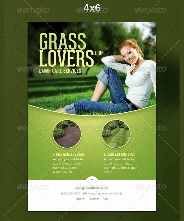 Lawn Mowing Flyer Template Fresh 15 Lawn Care Flyer Templates Printable Psd Ai Vector Eps format