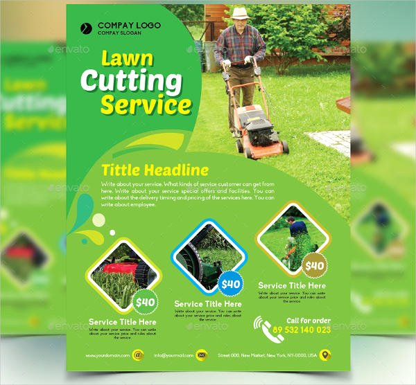 Lawn Mowing Flyer Template Luxury 7 Lawn Mowing Flyer Designs & Templates Psd Vector Eps