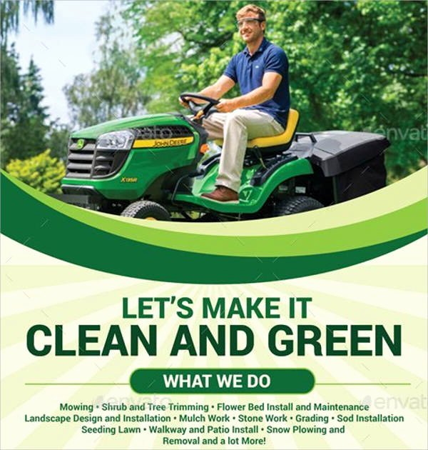 Lawn Mowing Flyer Template New 7 Lawn Mowing Flyer Designs & Templates Psd Vector Eps
