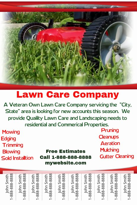 Lawn Mowing Flyer Template New Lawn Care Service