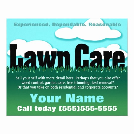 Lawn Mowing Flyer Templates Elegant Lawn Care Landscaping Mowing Marketing Flyer