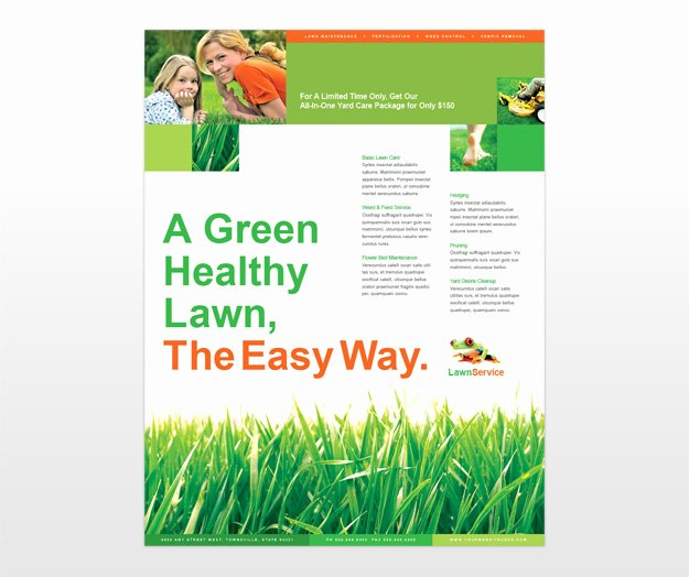 Lawn Mowing Flyer Templates Inspirational Lawn Care Flyer Template