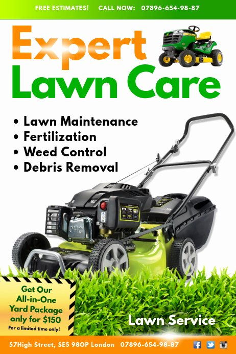 Lawn Mowing Flyer Templates Inspirational Lawn Service Flyer Template