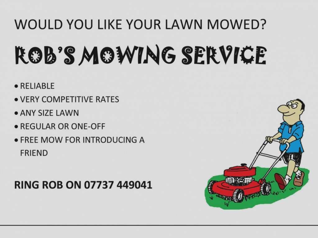 Lawn Mowing Flyer Templates Lovely Lawn Mowing Flyer Template Cards Design Templates