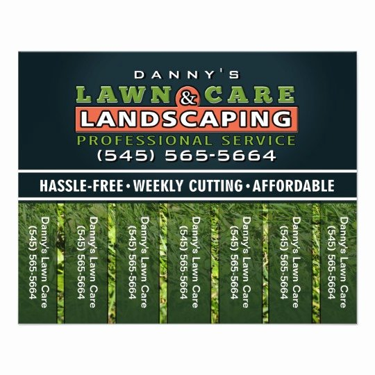 Lawn Mowing Flyer Templates Luxury Lawn Care & Landscaping 5 6 X 4 5 Tear F Flyer