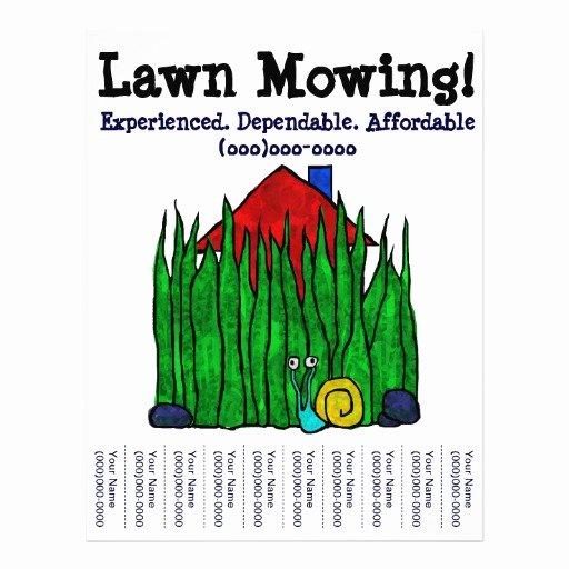 Lawn Mowing Flyers Templates Elegant Lawn Mowing Lawn Care Yard Word Custom Flyer