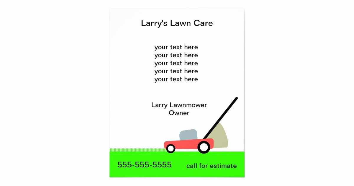 Lawn Mowing Service Flyer Best Of Lawn Care Services Flyer