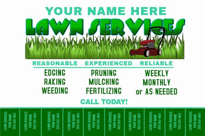 Lawn Mowing Service Flyer Best Of Lawn Service Template