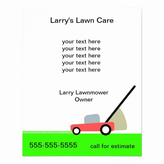 Lawn Mowing Service Flyer Elegant Lawn Care Services Flyer