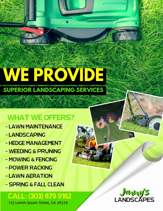 Lawn Service Flyer Ideas Awesome Lawn Service Flyer Template