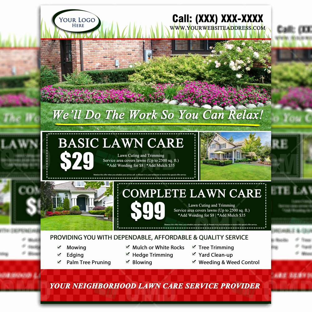 Lawn Service Flyer Ideas Elegant Lawn Care Flyer Design 2 – the Lawn Market
