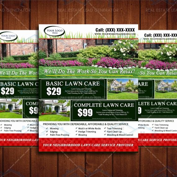 Lawn Service Flyer Ideas Luxury 8 5 X 11 Landscaping Business Flyer Design by the Lawn
