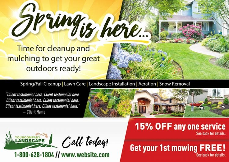 Lawn Service Flyer Ideas Unique Proven Landscape and Lawn Care Marketing