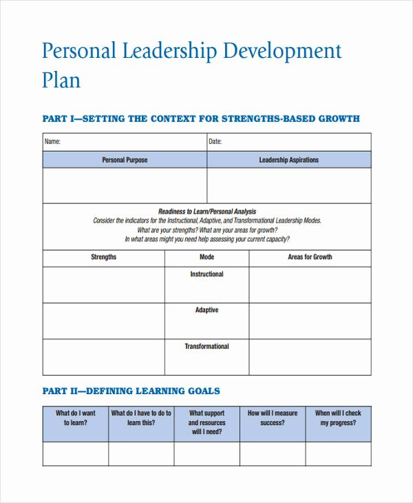 Leadership Action Plan Example Best Of 64 Development Plan Examples & Samples In Pdf Word Pages Google Docs