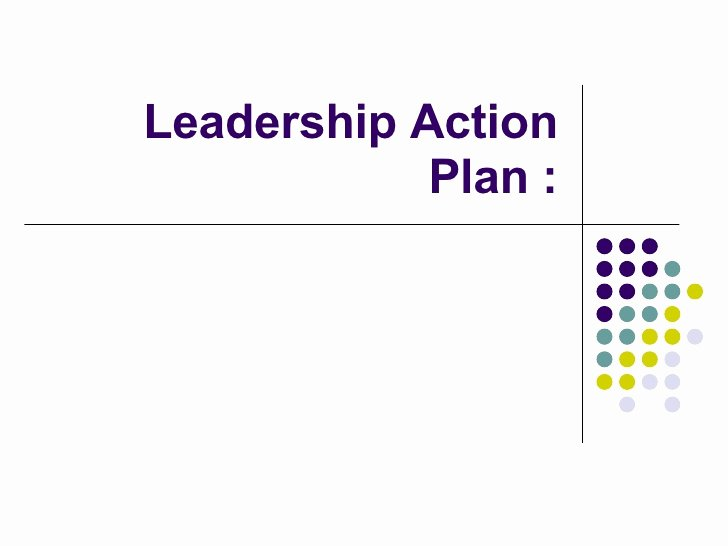 Leadership Action Plan Example Elegant Leadership Action Plan