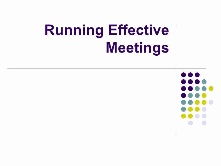 Leadership Action Plan Example Elegant Running Effective Meetings Overview