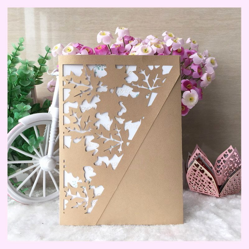 Leaf Shaped Business Cards Inspirational 50 Pcs Laser Cut Paper Maple Leaf Shape Wedding Invitaiton Card Best Wishes Blessing Card for