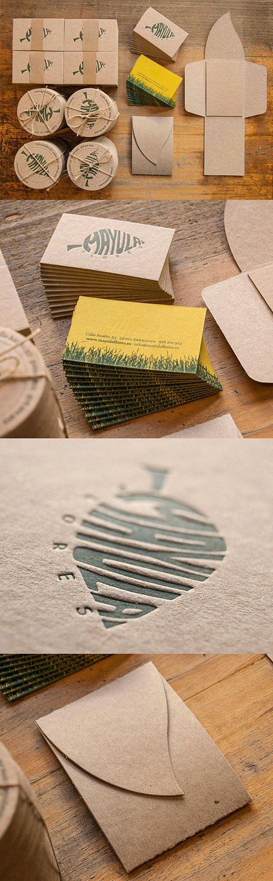 Leaf Shaped Business Cards Lovely Leaf themed Letterpress Business Cards Business Cards