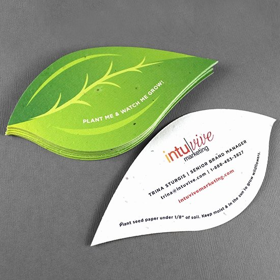Leaf Shaped Business Cards Unique Visiting Card Printing Business Cards Printing