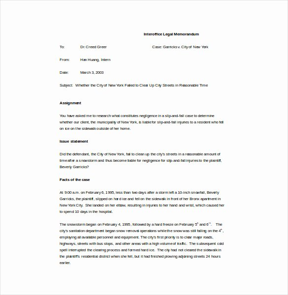 Legal Memorandum Template Word New Memo Template – 17 Free Word Pdf Documents Download