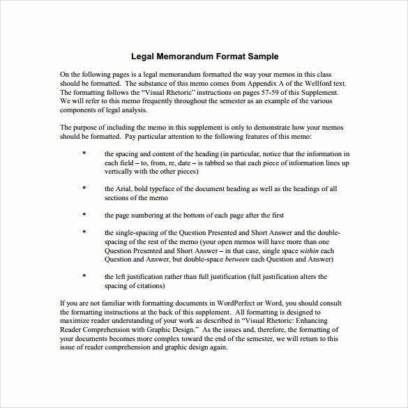 Legal Memorandum Template Word Unique Sample Legal Memo Template 11 Documents In Pdf Google Docs Word