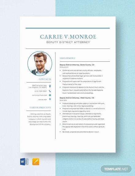 Legal Resume Template Word Luxury Deputy District attorney Resume Template Word Apple Pages