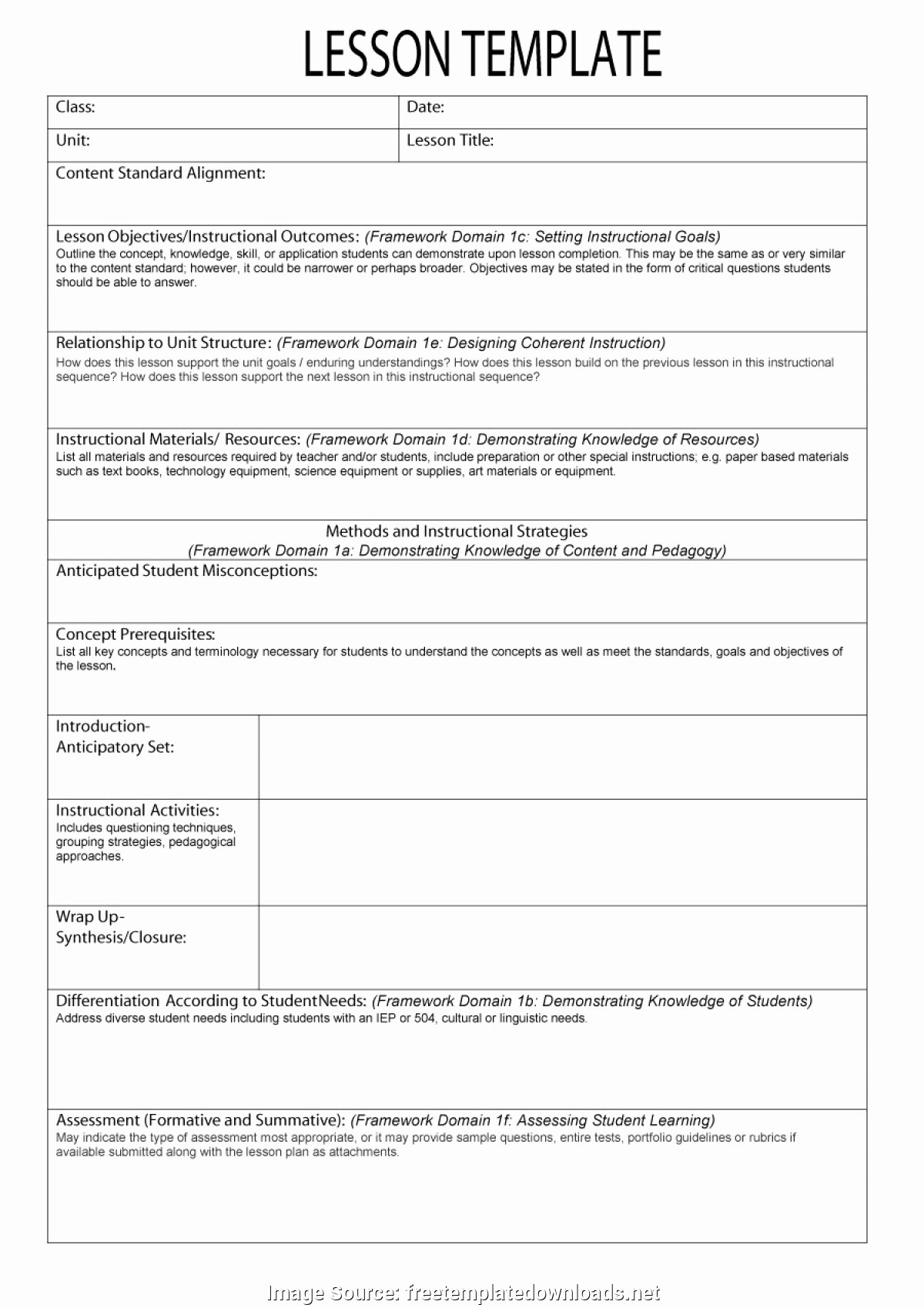 Lesson Plan Template Common Core Fresh Regular Free Science Lesson Plans 44 Free Lesson Plan Templates [ Mon Core Preschool Weekl
