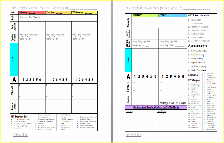 Lesson Plan Template Common Core Inspirational Free Mon Core Lesson Plan Template