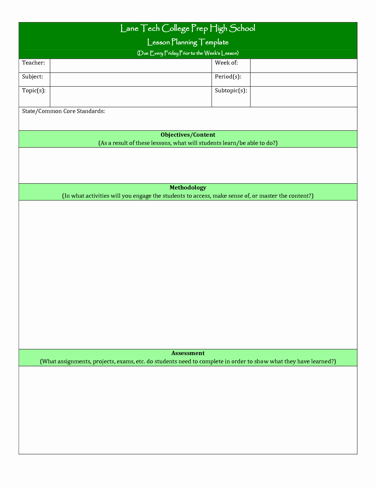 Lesson Plan Template Doc Awesome College Lesson Plan Template Printable Lesson Plan Template Doc