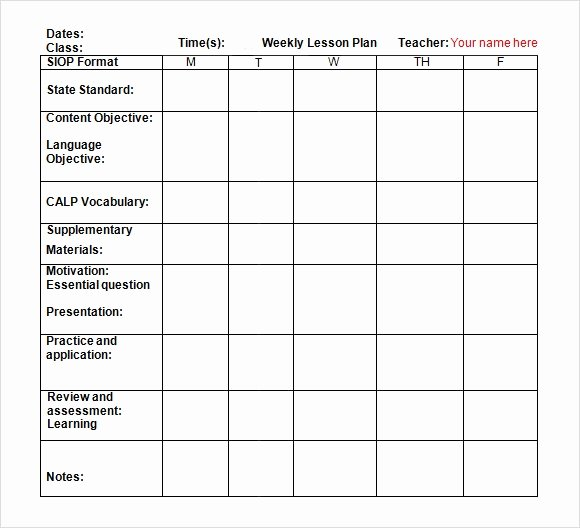 Lesson Plan Template Doc Elegant Free 7 Sample Weekly Lesson Plans In Google Docs Ms Word Pages
