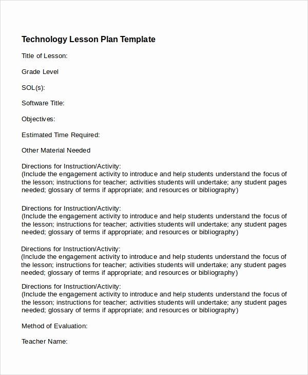 Lesson Plan Template Doc Luxury Printable Lesson Plan 7 Free Word Pdf Documents Download