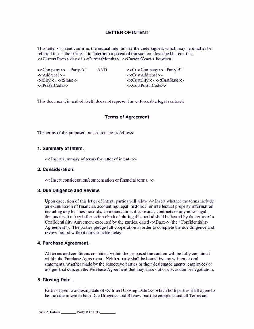 Letter Of Intent Construction Beautiful Contractor Letter Intent Template Template Update234 Template Update234