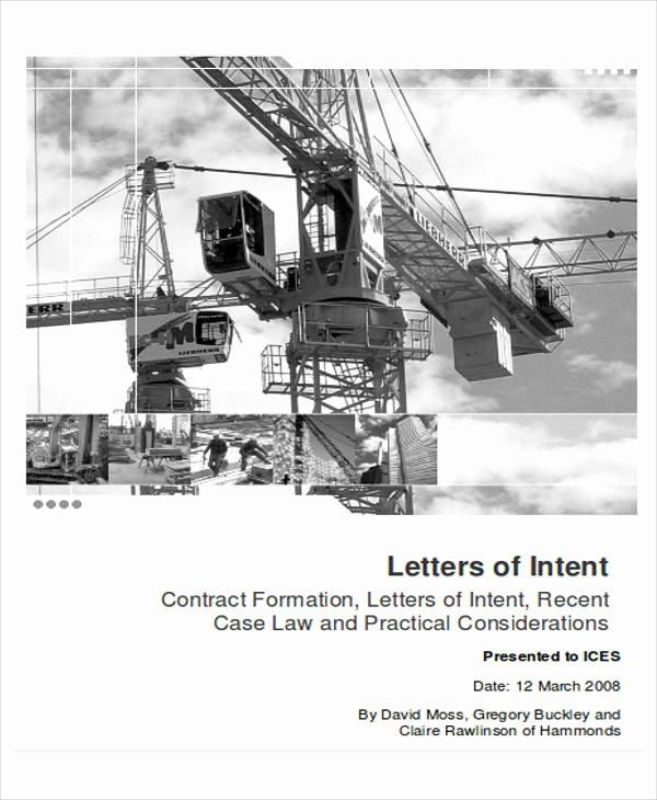 Letter Of Intent Construction Lovely 60 Sample Letter Of Intent