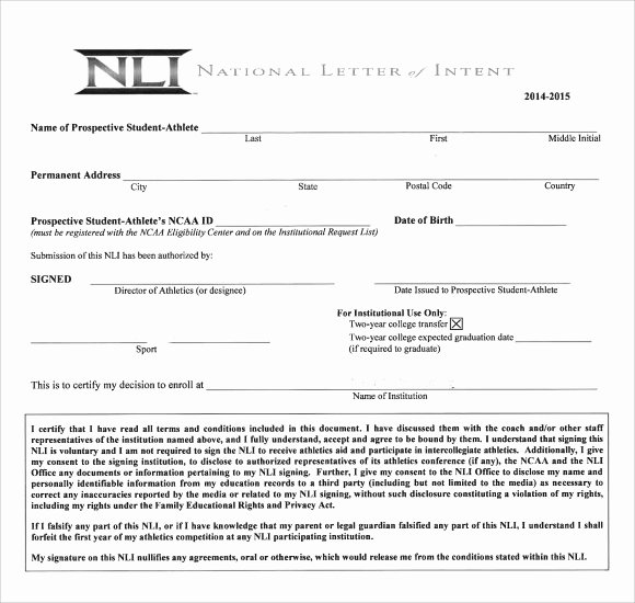 Letter Of Intent Pdf Best Of Sample National Letter Of Intent 9 Free Documents In Pdf Word