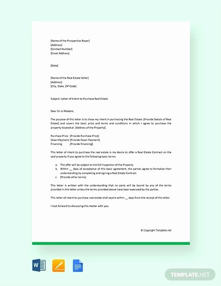 Letter Of Intent Pdf Lovely 11 Real Estate Letter Of Intent Templates Pdf Doc