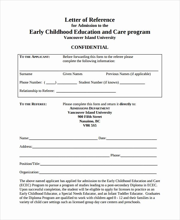 Letter Of Recommendation Child Care Best Of Sample Reference Letter 19 Free Documents Download In