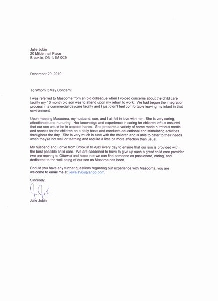 Letter Of Recommendation Child Care Unique Hop Skip and Learn Home Childcare In Ajax