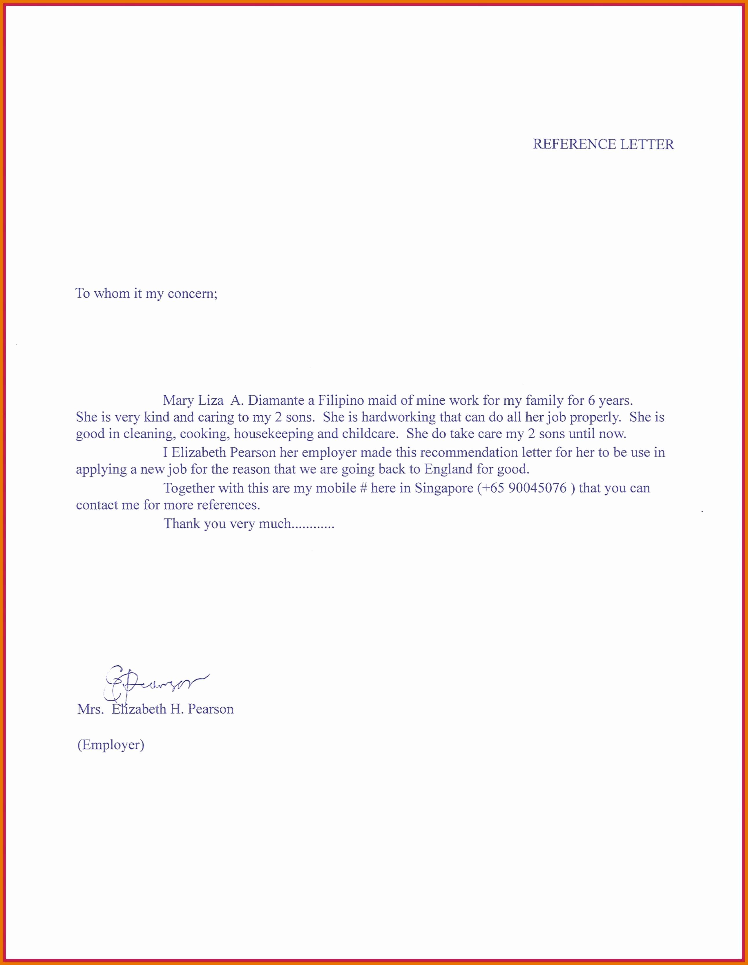 Letter Of Recommendation for Babysitter Best Of 5 6 Letter Of Re Mendation for Nanny