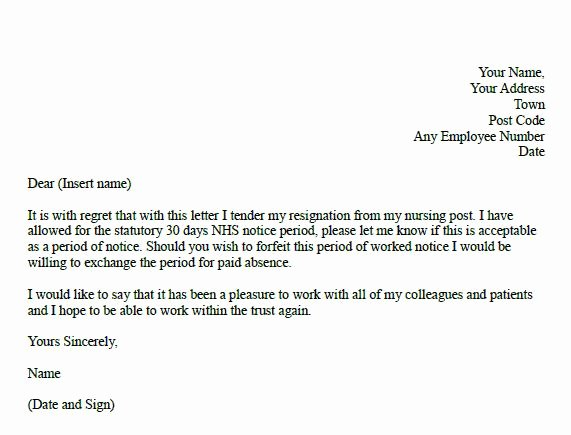 Letter Of Resignation Nursing Awesome formal Resignation Letter for Nurse Learnist