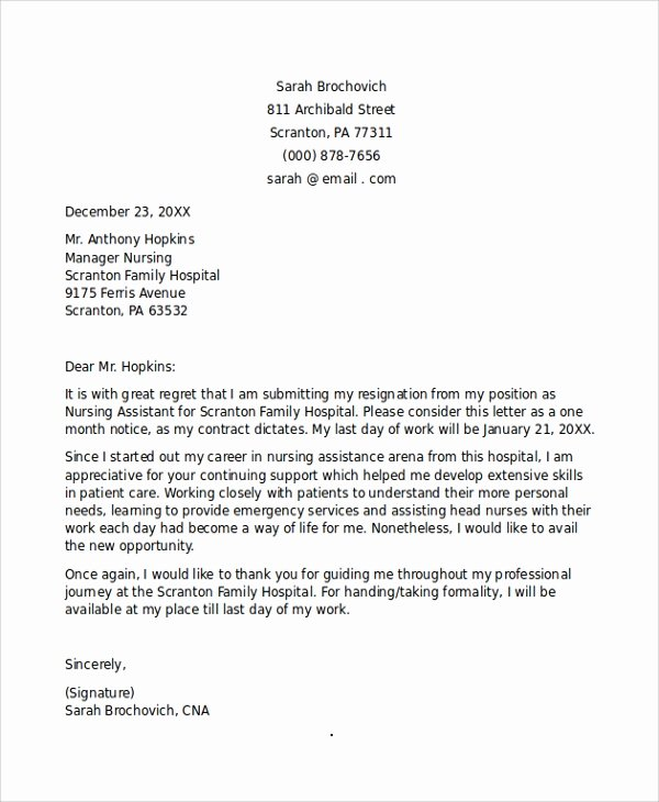 Letter Of Resignation Nursing Beautiful 11 Sample Nursing Resignation Letters Pdf Word