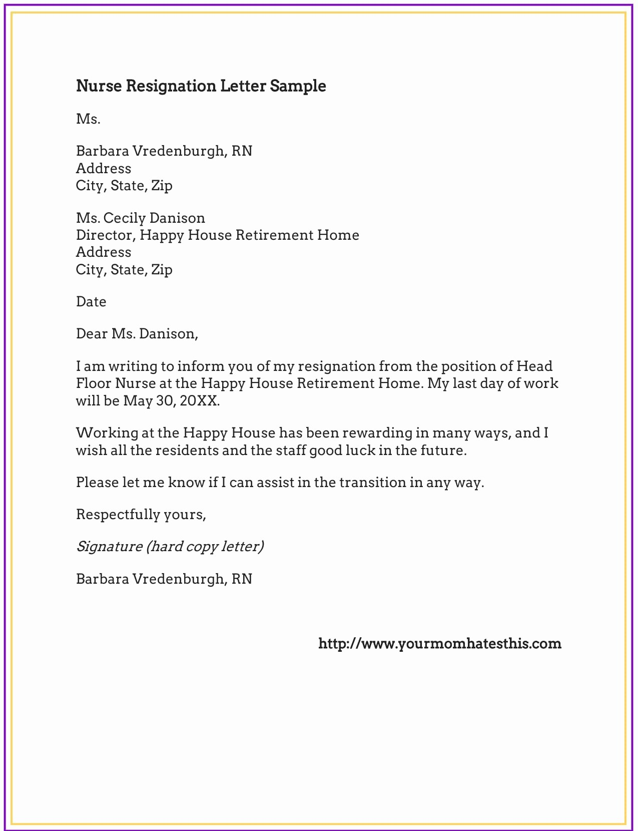 Letter Of Resignation Nursing Inspirational Dos and Don'ts for A Resignation Letter