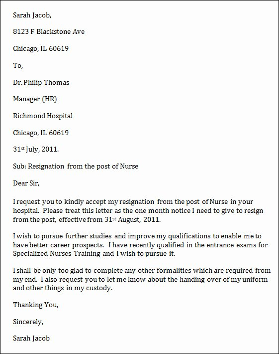Letter Of Resignation Nursing Lovely Nursing Resignation Letter Uk