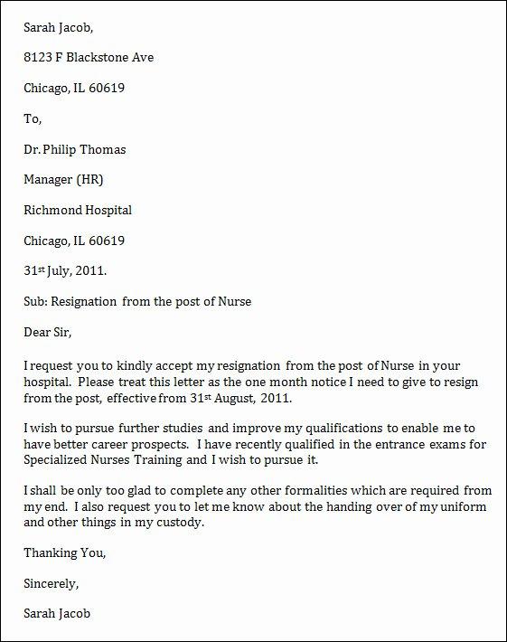 Letter Of Resignation Nursing Lovely Nursing Resignation Letter Uk