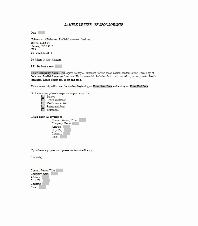 Letter Of Sponsorship for Student Awesome 40 Sponsorship Letter & Sponsorship Proposal Templates
