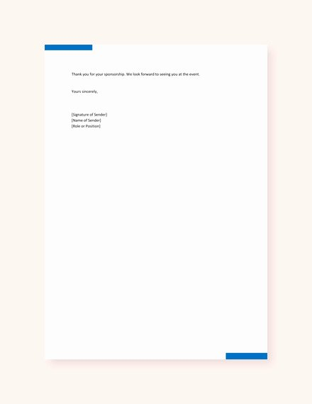 Letter Of Sponsorship for Student Elegant 45 Sponsorship Letter Templates Word Pdf Google Docs