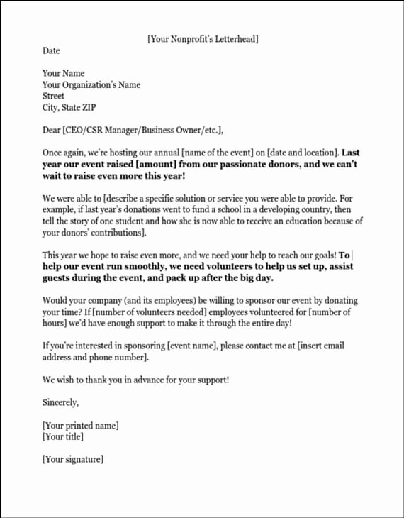 Letter Of Sponsorship for Student Lovely Sponsorship Letters Write Great Proposals with 12 Templates