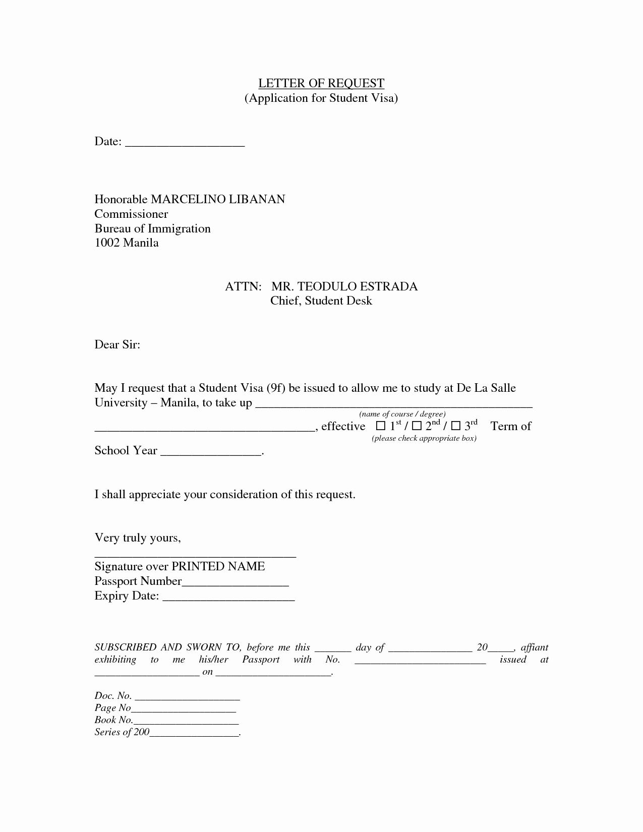 Letter Of Sponsorship for Student Luxury Sample Sponsor Visa Request Letter for Initial J 1 Visa Document Pdf