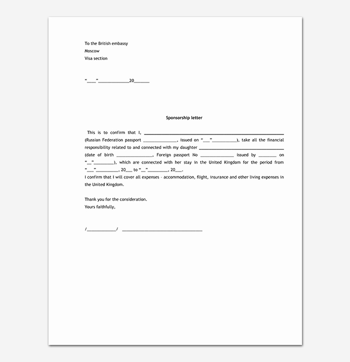 Letter Of Sponsorship for Student Unique Sponsorship Request Letter format with 13 Sample Letters